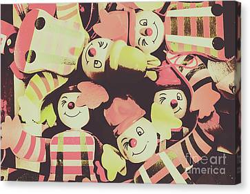 Pop Art Clown Circus Canvas Print