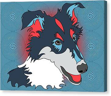 Pop Art Collie - Dog Art - Wpap  Canvas Print by SharaLee Art