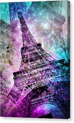Pop Art Eiffel Tower Canvas Print by Melanie Viola