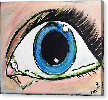 Pop Art Eye Canvas Print by Loretta Nash