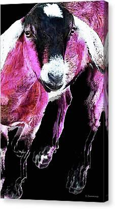 Pop Art Goat - Pink - Sharon Cummings Canvas Print by Sharon Cummings
