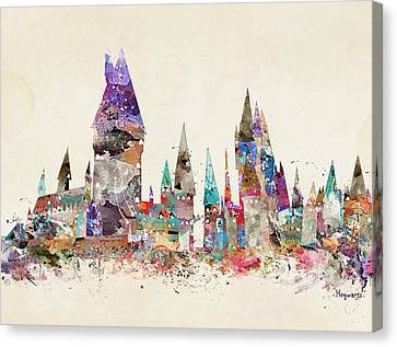 Pop Art Hogwarts Castle Canvas Print