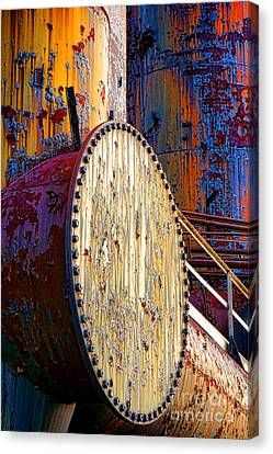 Pop Art Industrial  Canvas Print by Olivier Le Queinec