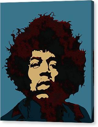 Pop Art Jimi Hendrix Canvas Print by Joy McKenzie