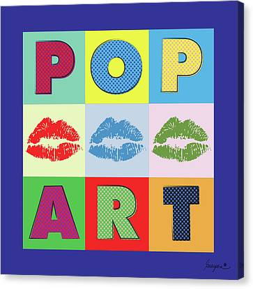 Pop Art Lips Canvas Print by Gary Grayson