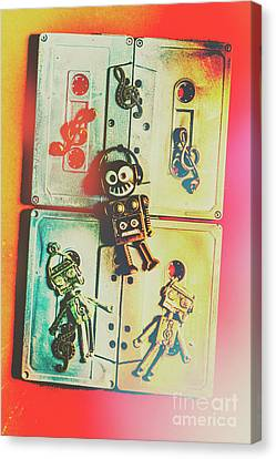 Doll Canvas Print - Pop Art Music Robot by Jorgo Photography - Wall Art Gallery