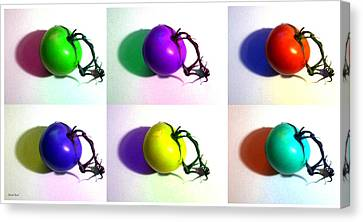 Canvas Print featuring the photograph Pop-art Tomatoes by Shawna Rowe