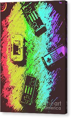 Pop Art Video Games Canvas Print