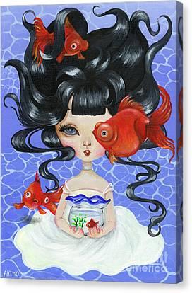 Pop-eyed Goldfish Canvas Print