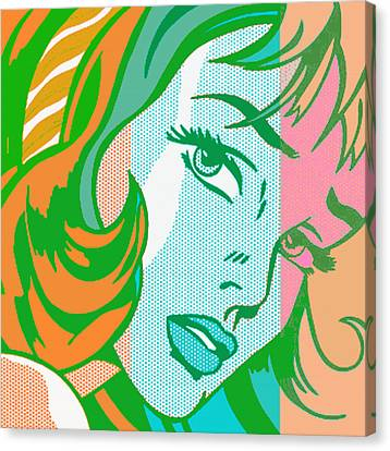 Girl Canvas Print - Pop Girl by Christian Colman