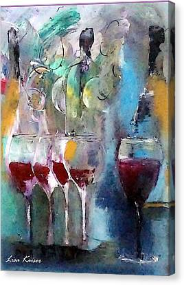 Pop The Cork And Celebrate Canvas Print by Lisa Kaiser