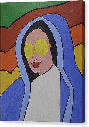 Pop Virgin Canvas Print by Jose Rojas