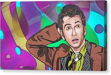 Canvas Print featuring the digital art Pop Who by Sarah Crumpler