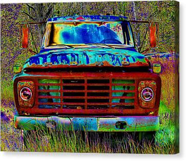 pOp ArT Ford Truck Canvas Print by Mike McGlothlen