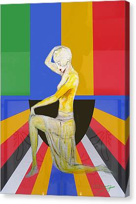 Popart Showgirl 2 Canvas Print by Tom Conway