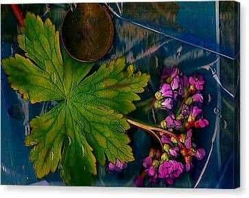 Drop Canvas Print - Popart With Fantasy Flowers by Pepita Selles