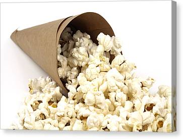 Popcorn In Paper Cone Canvas Print