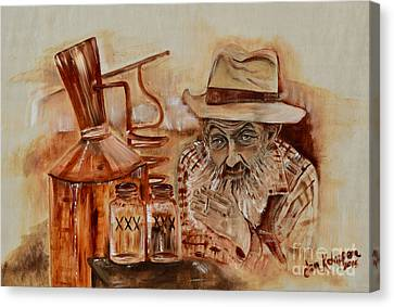 Popcorn Sutton - Waiting On Shine Canvas Print
