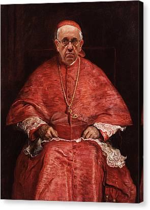 Reform Canvas Print - Pope Francis Renaissance Man Classic Treatment by Tony Rubino