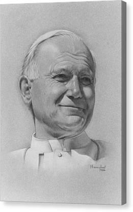 Pope John Paul II Canvas Print by Nanybel Salazar
