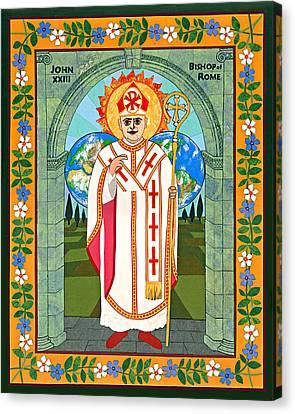 Pope John Xxiii Icon Canvas Print by David Raber