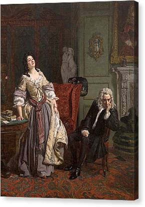 Pope Makes Love To Lady Mary Wortley Montagu Canvas Print