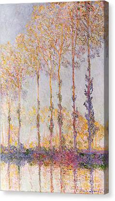 Poplars On The Banks Of The Epte Canvas Print by Claude Monet