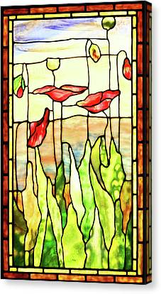 Canvas Print featuring the photograph Poppies 1 by Kristin Elmquist