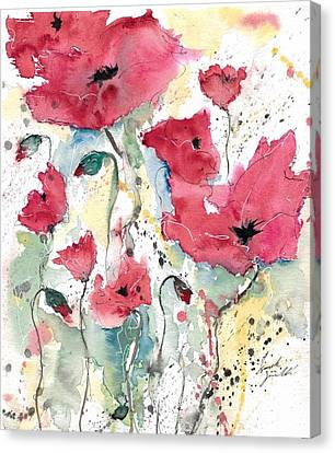Poppies 10 Canvas Print