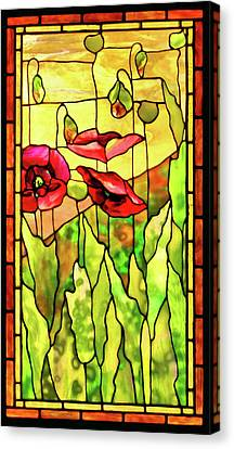Canvas Print featuring the photograph Poppies 2 by Kristin Elmquist