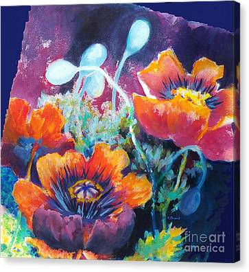 Poppies 2.2 Canvas Print by Kathy Braud