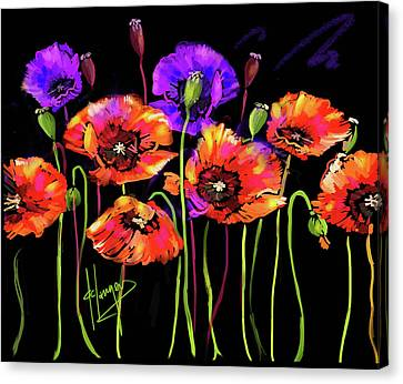 Poppies Canvas Print by DC Langer