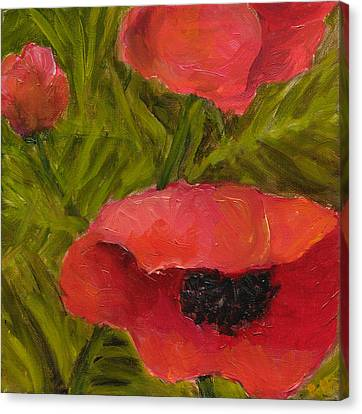Poppies Diptych B Canvas Print by Rita Bentley