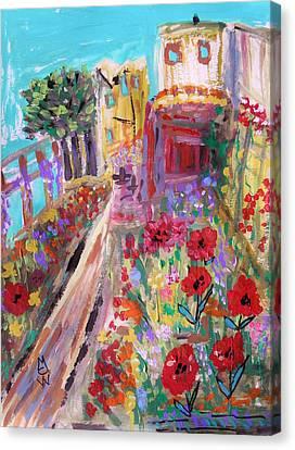 Alcatraz Canvas Print - Poppies In Alcatraz Garden by Mary Carol Williams