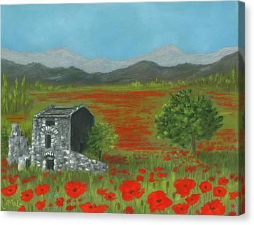 Poppies In Provence  Canvas Print by Anastasiya Malakhova