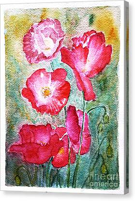 Poppies Canvas Print by Jasna Dragun