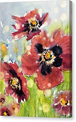 Poppies Canvas Print by Judith Levins