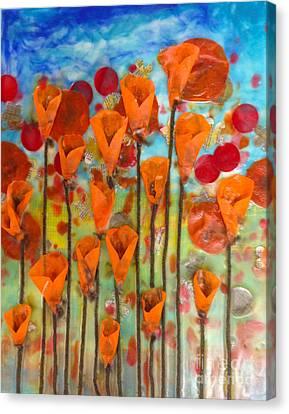 Poppies Make Me Happy Canvas Print