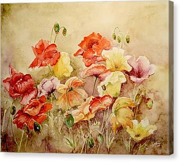 Poppies Canvas Print by Marilyn Zalatan