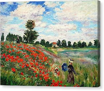 Poppies Near Argenteuil Canvas Print by Peter Kupcik