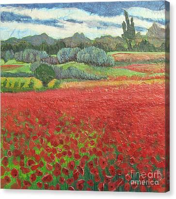 Poppies Canvas Print by Pamela Iris Harden