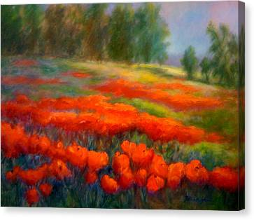 Poppies Canvas Print by Patricia Lyle