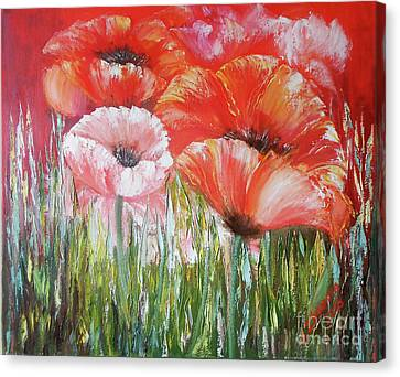 Poppies Printable Painting Canvas, Print Red Poppies Painting Oil, Flowers Painting Poppies Art Prin Canvas Print