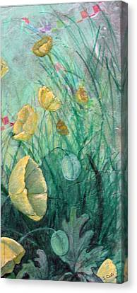 Poppies Canvas Print by Sandy Clift