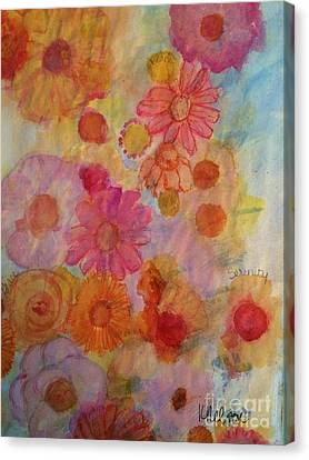 Canvas Print featuring the painting Popping by Kim Nelson