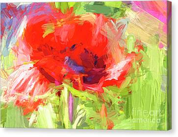 Canvas Print featuring the photograph Poppy Abstract Photo Art by Sharon Talson