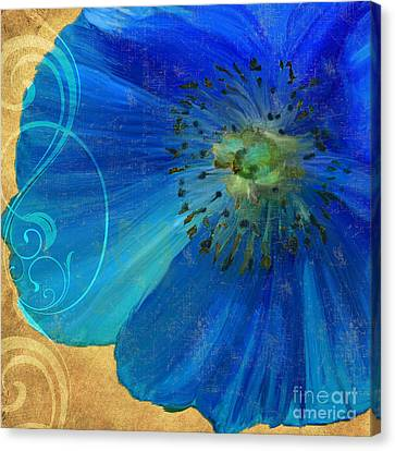 Poppy Blues II Canvas Print by Mindy Sommers