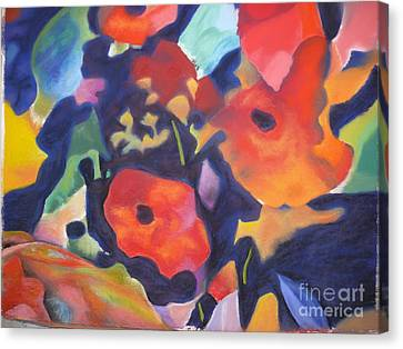 Canvas Print featuring the pastel Poppy Bouquet by Terri Thompson
