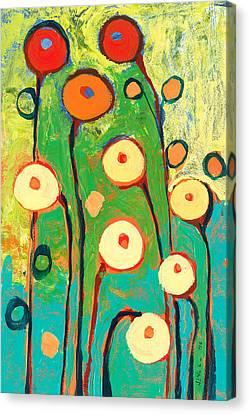 Poppy Celebration Canvas Print by Jennifer Lommers