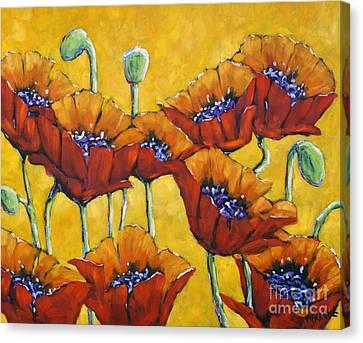 Poppy Craze By Prankearts Canvas Print by Richard T Pranke